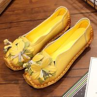 Alice (預購) 民族風編花造型真皮鞋