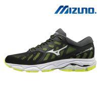 【MIZUNO 美津濃】WAVE ULTIMA 11 男慢跑鞋 黑綠 J1GC190901