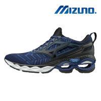 【MIZUNO 美津濃】WAVE CREATION WAVEKNIT 男慢跑鞋 藍 J1GC193309