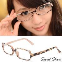 Seoul Show首爾秀 金邊聚焦方框平光眼鏡 6748可可豹紋