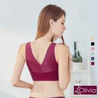 Olivia 無鋼圈透膚輕柔蕾絲包覆內衣(酒紅)