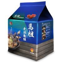 【五木】馬祖酒廠老酒麵線4入袋裝(淡菜海鮮風味)*12袋