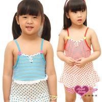 天使霓裳 典雅色彩兒童連身泳裝(共2色) QE8416