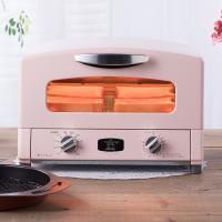 [結帳驚喜價]日本Sengoku Aladdin 千石阿拉丁 復古多用途烤箱(內附烤盤)-(粉紅色) 庫