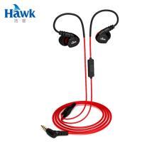 【Hawk 浩客】S300 防水運動型耳機麥克風 紅色(03-HES300)