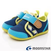 MOONSTAR-日本Carrot機能童鞋 2E玩耍系列速乾鞋款 CRB1125深藍(小童段)