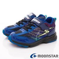 MOONSTAR-日本月星頂級競速童鞋 3E閃電系列 SSJ8868藍(中大童段)