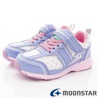MOONSTAR-日本月星頂級競速童鞋 輕量防滑系列 SSJ9091粉紫(中大童段)