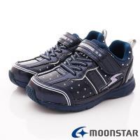 MOONSTAR-日本月星頂級競速童鞋 輕量防滑系列 SSJ9095深藍(中大童段)