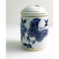 青花皇后楊莉莉-陶瓷茶葉罐~金邊