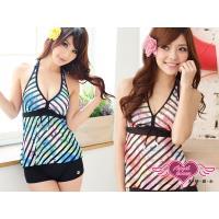 天使霓裳 泳衣 浪漫色彩 二件式暈染風泳裝(共2色M~XL) SQ3101