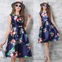 歐風KEITH-Will 歐風優雅隨興印花洋裝
