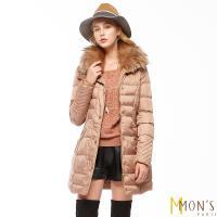 MONS國際精品唯一回饋蓄暖大衣-金