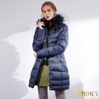 MONS國際精品唯一回饋蓄暖大衣-藍