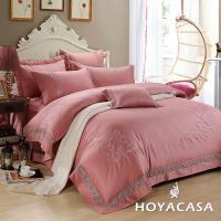HOYACASA奢華歲月 加大八件式300織長纖細棉兩用被床罩組+贈一被兩枕-型(網)
