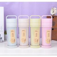 OSUMA 天然環保小麥雙層手提式隨身泡茶杯(420ML)HY-834