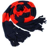 【agnes b.】時尚麻花編織 針織保暖長圍巾(紅色)