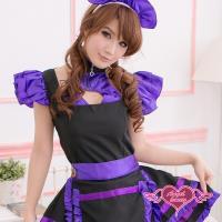天使霓裳 優雅美型 神秘超萌女僕裝 角色服(紫) QF2032