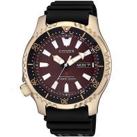 CITIZEN星辰 海底探險 限量200米潛水機械錶(咖啡金/42mm) NY0083-14X