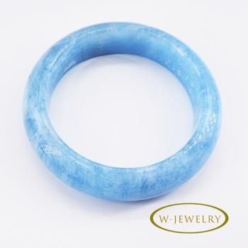 W-jewelry  濃郁色澤天然海藍寶手鐲(18吋)