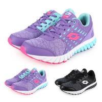 LOTTO 男女童雙密度避震跑鞋-童鞋 訓練 慢跑 路跑