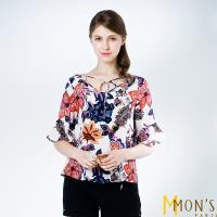 MONS法國設計師款印花造型上衣