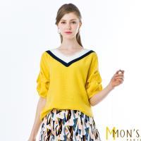 MONS法國精品V領造型修身上衣