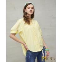 MONS成熟內斂立體剪裁100%純棉上衣