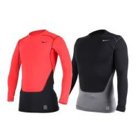 NIKE PRO COMBAT 男長袖緊身衣-保暖 慢跑 健身 緊身T恤