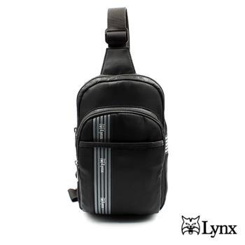 【Lynx】三線條俐落簡約男用側背包胸包