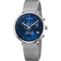 Calvin Klein CK High Noon 計時手錶-藍x銀/43mm K8M2712N