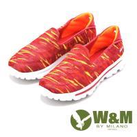 W&M MODARE系列 炫彩直套式休閒鞋 女鞋-橘(另有藍)