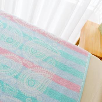 台灣興隆毛巾製 夢幻變形蟲前漂純棉雙人毛巾被(單件)