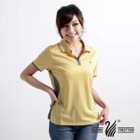 【遊遍天下】女款休閒抗UV吸濕排汗機能POLO衫MS009(黃)