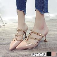 Alice (預購) 女人最大薔薇花漾鉚釘羅馬涼鞋