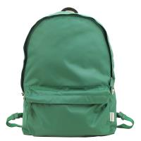 agnes b.條紋織布鐵環尼龍後背包(綠)