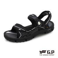 G.P 中性透氣舒適磁扣兩用涼拖鞋G9262-黑色(SIZE:37-43 共三色)