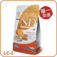 Farmina 法米納 挑嘴成貓 天然低穀糧系列LC-3(鱈魚甜橙) 貓飼料 1.5kg  WDJ推薦 義大利原裝進口