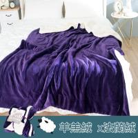 eyah 北歐時尚雙面加厚法蘭絨羊羔絨毯-深紫