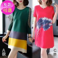 韓國KW 現貨女神氣質清新壓褶洋裝(多款可選)
