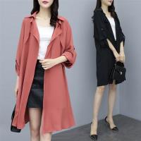 【KVOLL】耐看百搭優雅罩衫外套XL-3XL(共二色)