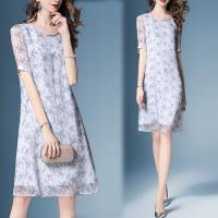歐風KEITH-Will 桑蠶絲皇家氣質印花洋裝