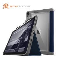 澳洲【STM】Dux Plus 系列 iPad Pro 12.9吋 (2018年)專用 軍規防摔保護殼 可收納Apple Pencil (深藍)
