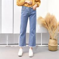 【WHATDAY】休閒舒適九分直筒牛仔褲25-32(共二色)