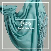 【ANGEL WOOLEN】引領時尚Pashmina鑽石紋印度手工流蘇披肩 圍巾(共兩色)