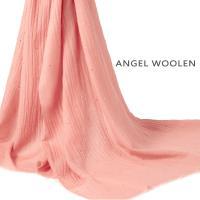 【ANGEL WOOLEN】經典素雅 Pashmina印度手工水鑽披肩 圍巾(橙色)