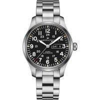 Hamilton 漢米爾頓 KHAKI FIELD 卡其野戰機械手錶-黑x銀/42mm H70535131