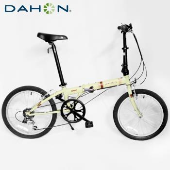 DAHON大行 Speed D6 20吋6速鉻鉬鋼折疊單車/自行車-米黃色
