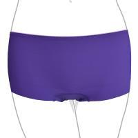 【Audrey】零著俏挺 中腰平口褲(摩登紫)