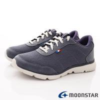 日本Moonstar戶外健走鞋-3E靜態防水抗菌款 SUL1675深藍(女段)
